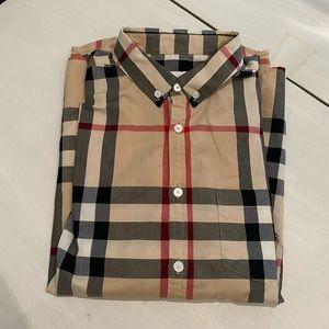 Burberry classic check poplin button down shirt